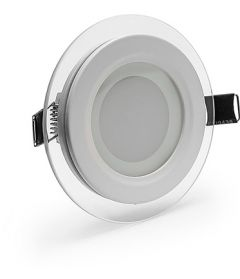 Светильник Glass panel light 6W 2700K d100 IP20